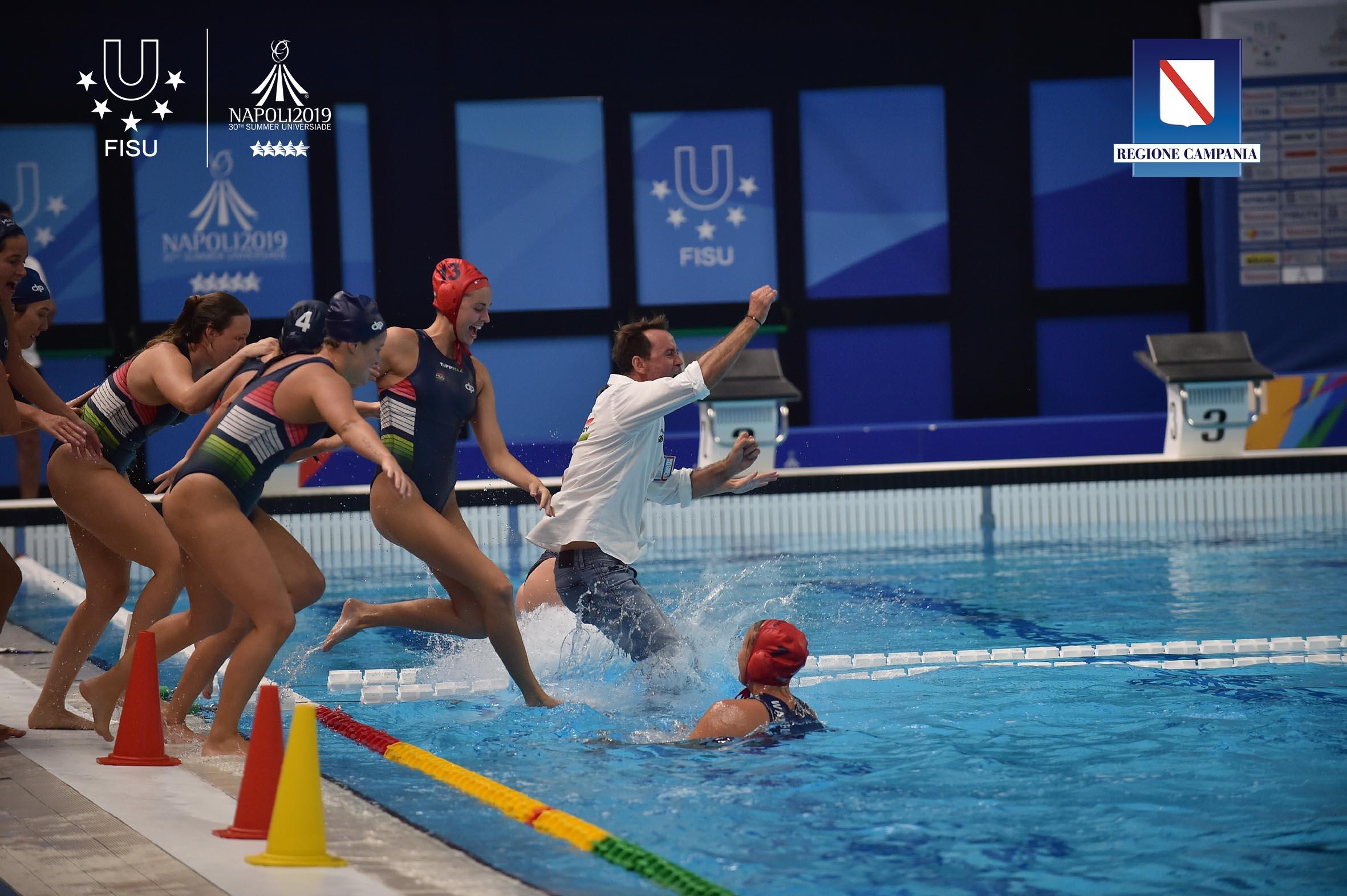20190713 - WATER POLO I NAPOLI - Universiade 2019 -  Piscina Scandone - Finale Water Polo Femminile  Nella foto: Italia vs Ungheria  FOTO/POOL FOTOGRAFI UNIVERSIADE NAPOLI 2019