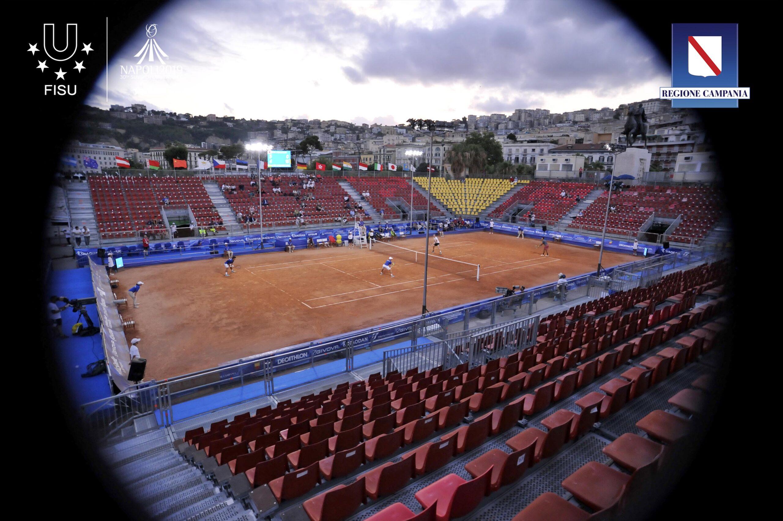 Finale tennis doppio Maschile KOR-UZB Tennis Club Napoli Credit: Pool fotografi universiadi